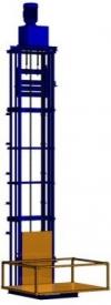 Мачтовый подъемник на основе мотор-редуктора